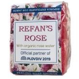 """Burete exfoliant cu sapun """"Refan's Rose"""" - 75 gr"""